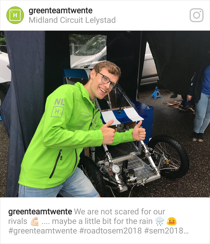 Greenteam met Blue Bolt