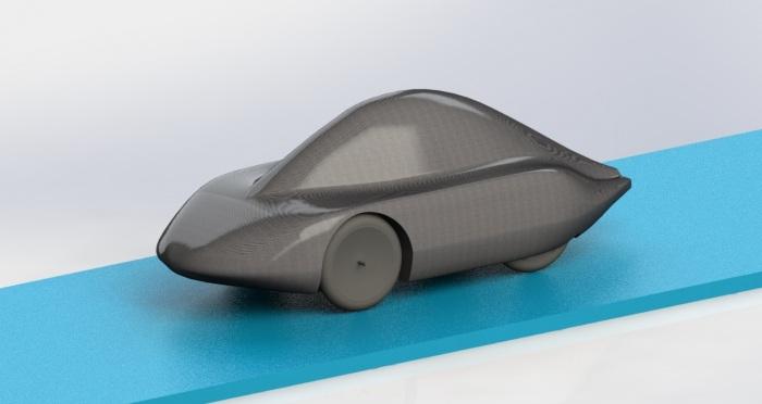 ontwerp nieuwe auto met blauw 2